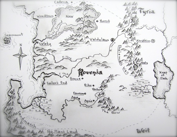 Behold the kingdom of Rovenia in its monochromatic glory!