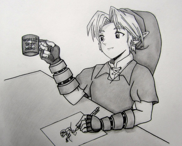 Link Drinking Coffee