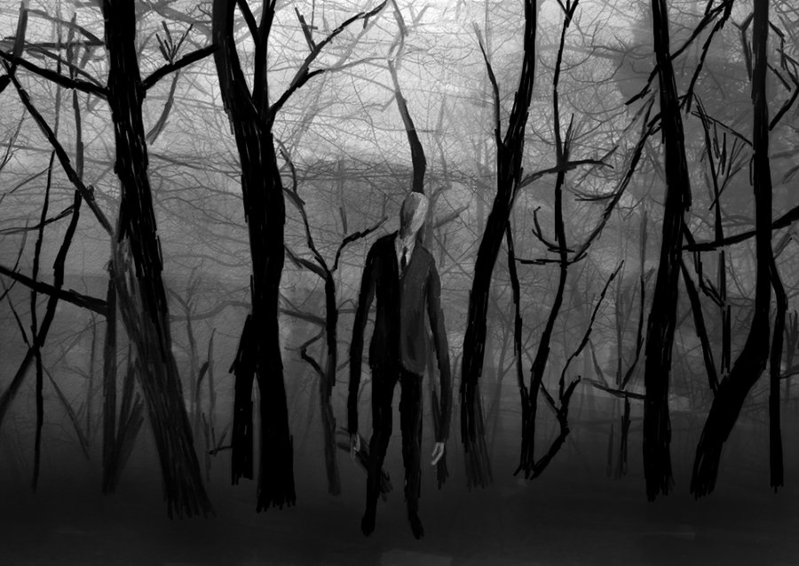 Scary Slenderman Drawing Slender Man Drawings The