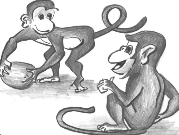 Monkey Parable - Playful monkey