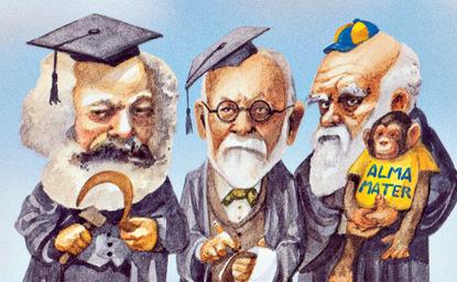 Three Thinkers and a Chimpanzee
