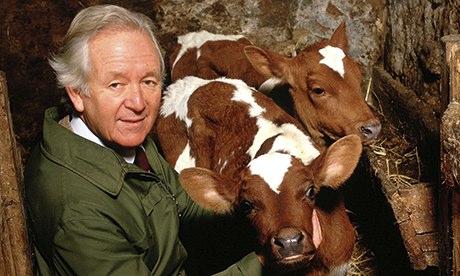 James Herriot on his farm, Yorkshire, Britain - 1995