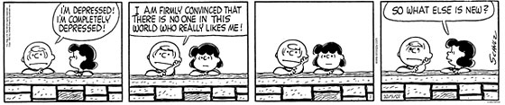 Depressed Charlie Brown