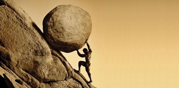 Poor Sisyphus. Endless futility is just how he rolls.