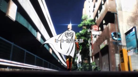 Saitama with shopping bag