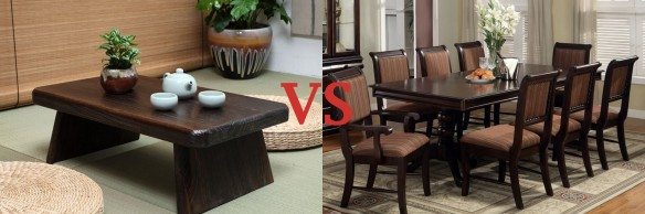 High vs. low tables