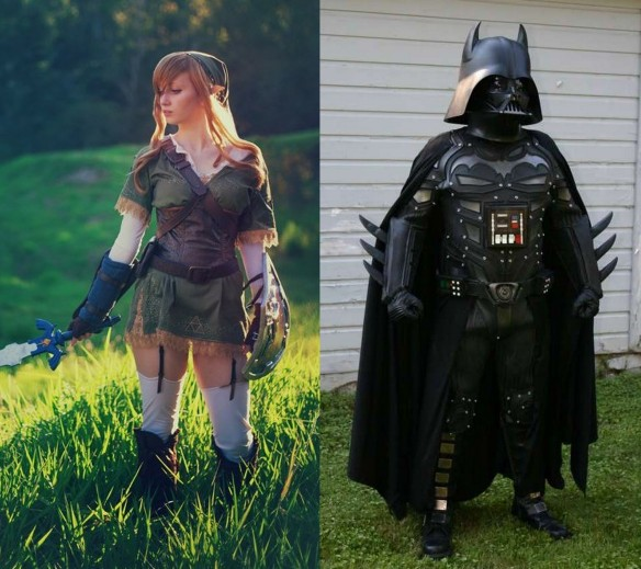 Darth Batman and Lady Link