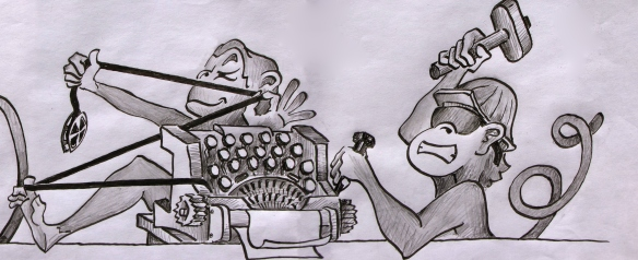Typewriter monkeys (2 of 2)
